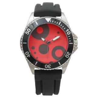 Custom Stainless steel black rubber Wristwatch
