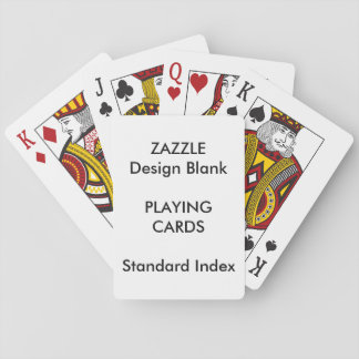 Custom STANDARD INDEX Playing Cards Blank