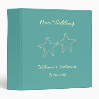 Custom Starfish Beach Wedding Album Binder Gift