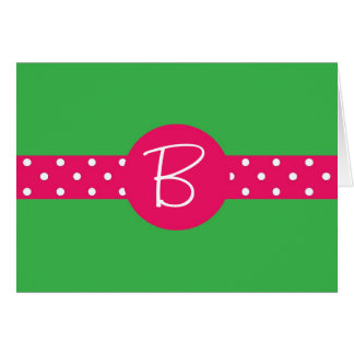 Custom Stationery - Ribbon w/ Initial Card