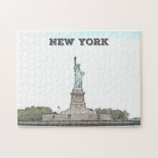 Custom Statue of Liberty - New York City Jigsaw Puzzle