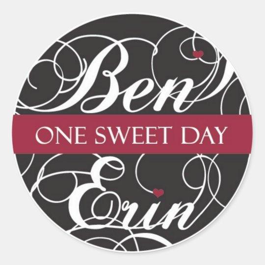 Custom Sticker for Ben & Erin (Heart2)