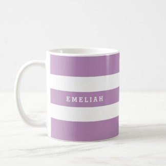 Custom Stripey Purple Mug