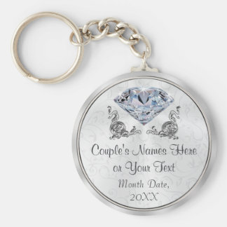 Custom Stunning yet Cheap Diamond Wedding Favors Keychain
