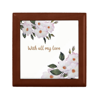 Custom Summer Flowers Floral Art Gift Box