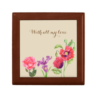 Custom Summer Flowers Floral Art Gift Box