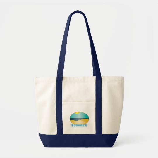 CUSTOM SUMMER LOGO .  BEACH LOGO BAG