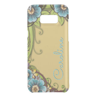 Custom Summer Yellow Turquoise Floral Vine Pattern Uncommon Samsung Galaxy S8 Plus Case