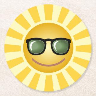 Custom Sun Round Paper Coaster