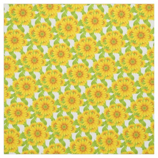 Custom Sunflowers Fabric