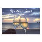 Custom Sunset On The Beach Wedding RSVP Cards