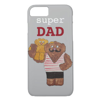 Custom Super Dad Circus Strongman Daddy iPhone 7 Case