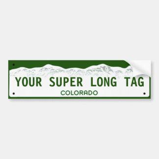 Custom Super-wide Colorado License Plate Bumper Sticker