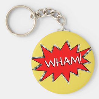 Custom Superhero Sound Effect Template Basic Round Button Keychain
