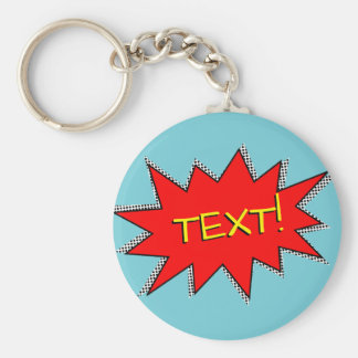 Custom Superhero Sound Effect Template Keychain