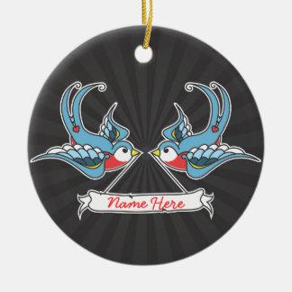 Custom Swallows Ceramic Ornament