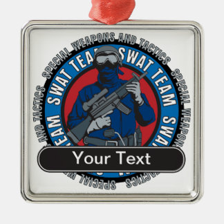Custom SWAT Team Metal Ornament