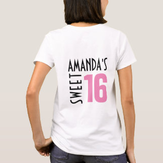 Custom Sweet 16 T Shirt | Party Favor