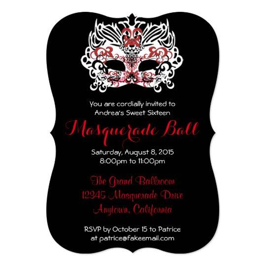 Custom Sweet Sixteen Masquerade Ball Invitations | Zazzle.ca