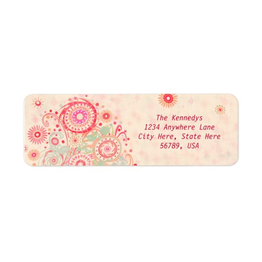 Custom Swirls & Circles Return Address Labels