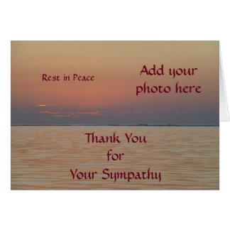 Custom Sympathy Thank You Cards - Ocean View
