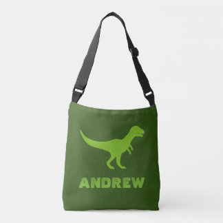 Custom t-rex dinosaur cross body bags for kids