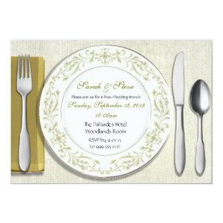 Custom Table Setting Post Wedding Brunch Invites