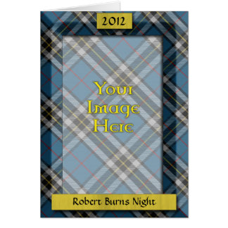 Custom Tartan Photo Frame - Burns Night Card