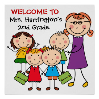 Custom Teacher and Students Welcome to Class Poste Poster