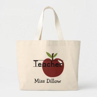 Custom Teachers Apple Tote Bag