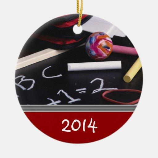 Custom TEACHER'S Christmas Ornament Template