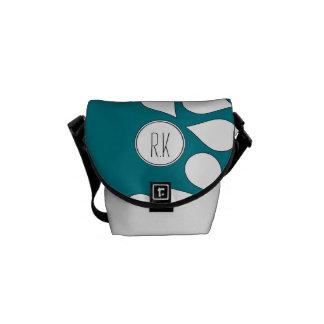 custom teal monogram bag with shoulder strap messenger bag