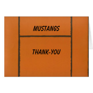 Custom Team Basketball Thank-you or Blank Notecard