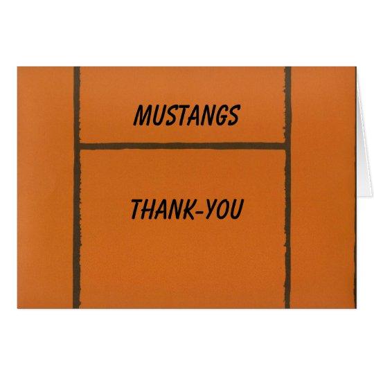 Custom Team Basketball Thank-you or Blank Notecard