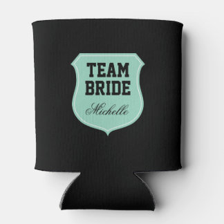Custom Team Bride can coolers for wedding party Can Cooler