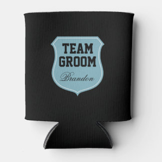 Custom Team Groom can coolers for wedding party Can Cooler