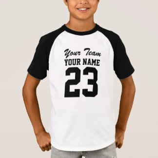 Custom Team Name Number Kids Sports Jersey T-Shirt