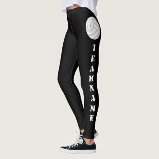 CUSTOM Team Name Vertical Text Volleyball Leggings