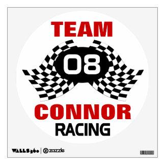 Custom Team Racing Family Wall Decal
