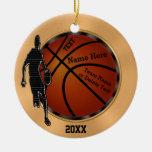 Custom Techno Meets Vintage Basketball Ornaments