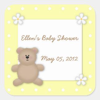 Custom Teddy Bear Baby Shower Sticker