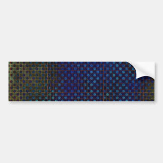Custom Template: Dark Blue Halftone Pattern Bumper Sticker