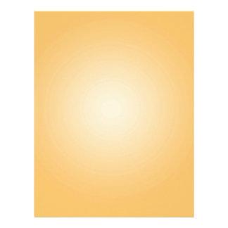 Custom Template: Gradient Radial Orange White Letterhead