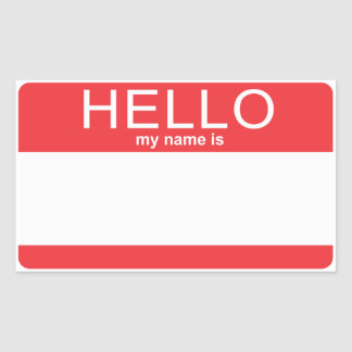 Custom Template Hello My Name Is Sticker