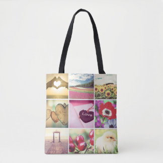 Custom template photo tote bag