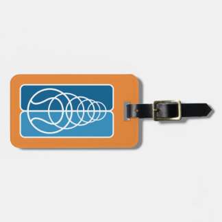 Custom tennis ball logo travel luggage tag for bag