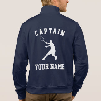 Custom tennis captain fleece jacket