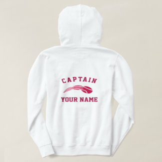 Custom tennis captain hoodie for women's team