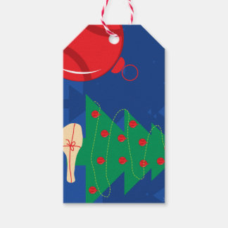 Custom tennis Christmas Holiday gift tags