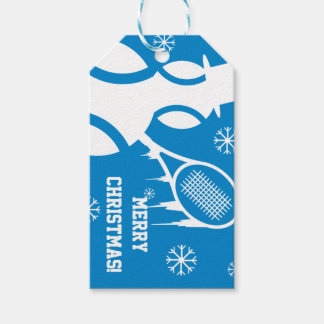 Custom tennis Merry Christmas Holiday gift tags